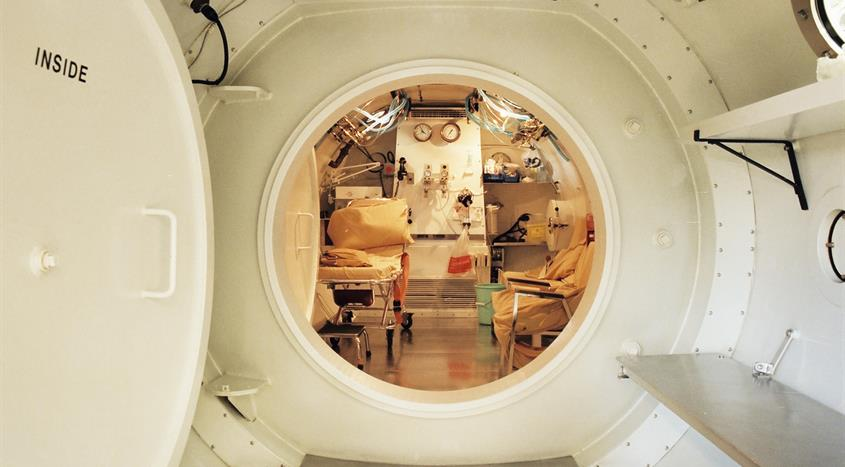 Entrance into the hyperbaric chamber at VGH