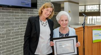 Volunteer Josephine Macdonald and CEO Mary Ackenhusen.jpg